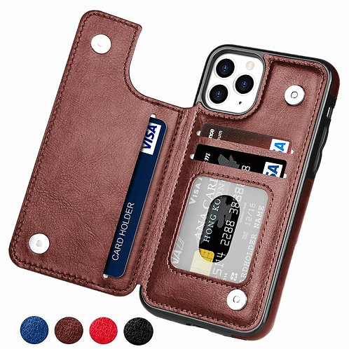 Retro PU Leather Case for Various iPhone  Multi Card Holder Phone Cases .