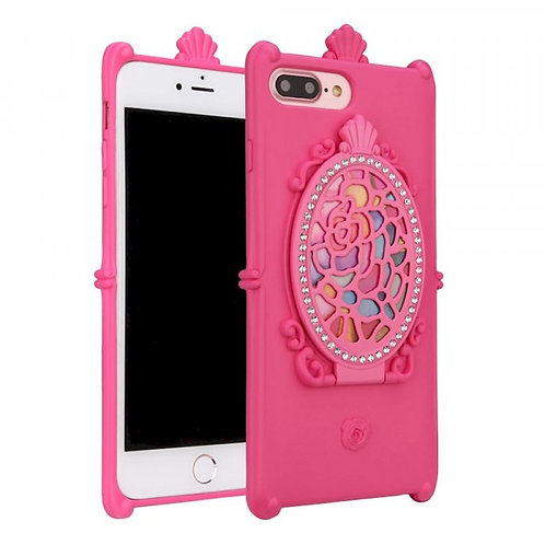 Flip Mirror Case (Pink )fits Iphone 7/8