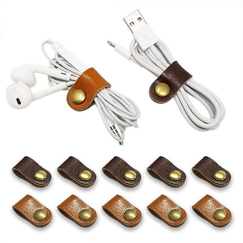 Headphone;Charger;Cable Organizer Wrap Winder Handmade Leather Earphone Strap
