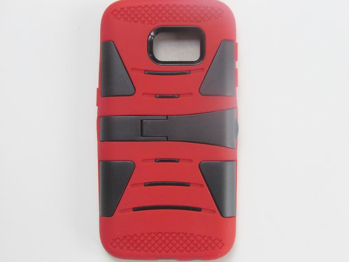 Rugged Grip Case w/ kickstand Red/Black (Galaxy 7)