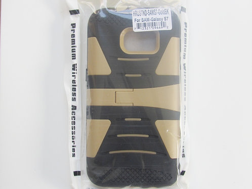 Rugged Grip Case w/kickstand Gold/Black Galaxy 7