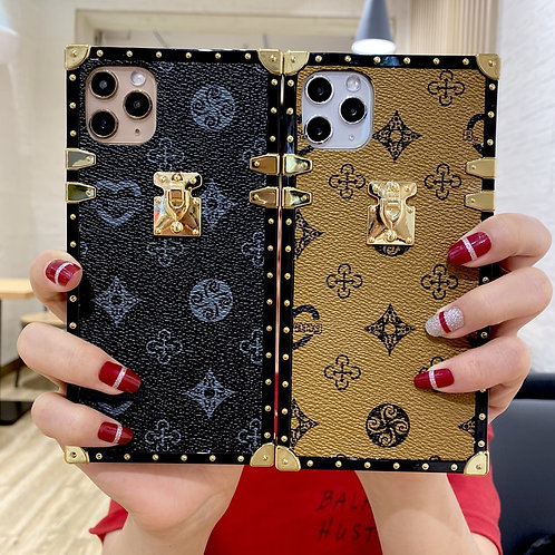 Luxury Square Leather Phone Case for Iphone 12Pro 11 6 7 8Plus XR Xs Max
