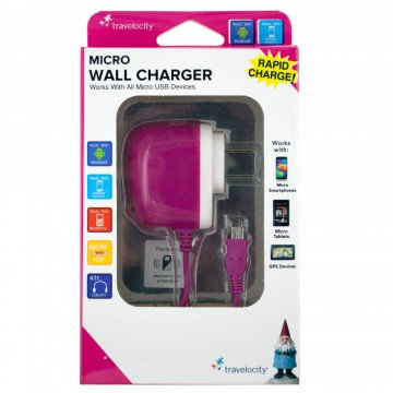 MicroUsb Wall Charger (Pink)