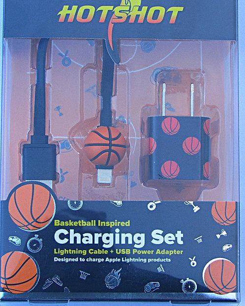 Hot Shot Basketball Charger Set