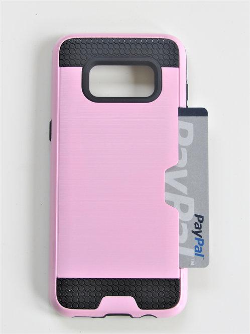 Premium Dual Case w/ Card Slot(Pink) Galaxy6