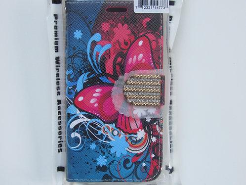 Butterfly Bliss Bling Flip wallet Samsung 6