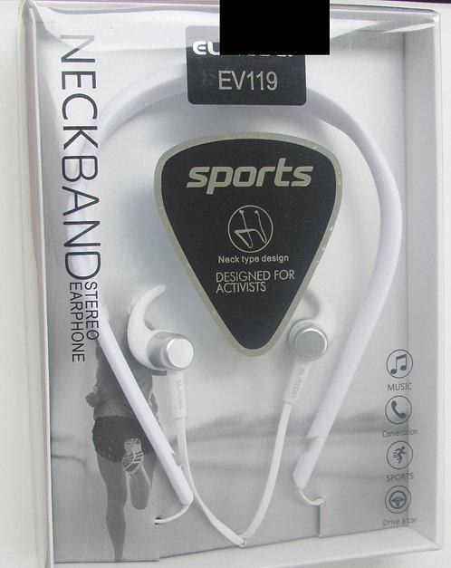 Sports Neckband Earphones (White)
