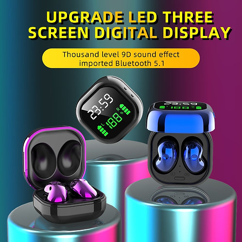TWS 5.0 True Wireless Earbuds Sports Bluetooth LED Display