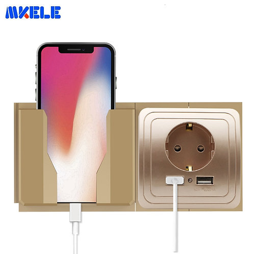 Wall Cellphone Holder Stand Socket Paste Charge Support Rack Shelf Durable