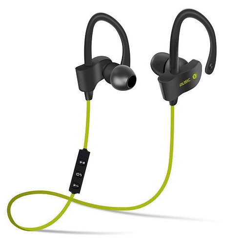 Sport Bluetooth wireless Earphones (Lime Green)