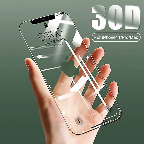 30D Full Cover Tempered Glass for iPhone 6 thru 11 Max Glass X X