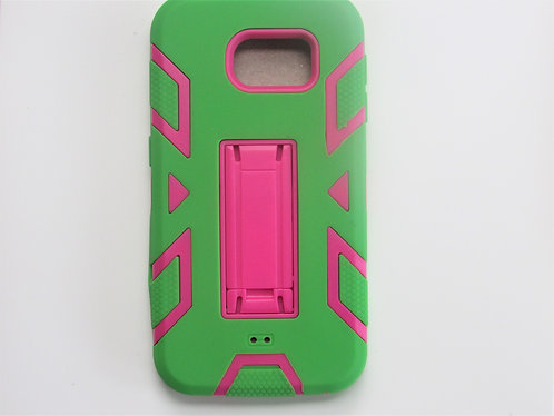 360 Protective Case (Hotpink/Green) Galaxy  6