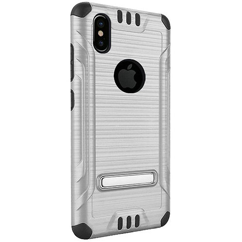 Tech Shockproof Case (Silver)Fits Iphone X