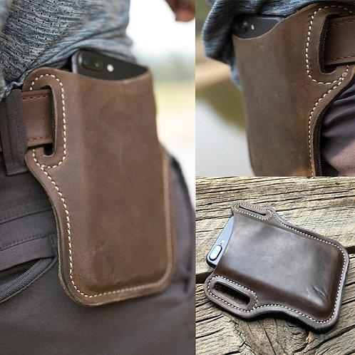 Cellphone Loop Phone Holster Case Belt Waist PU Leather