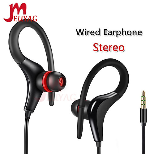 MEUYAG 3.5mm Ear Hook Stereo Earphones