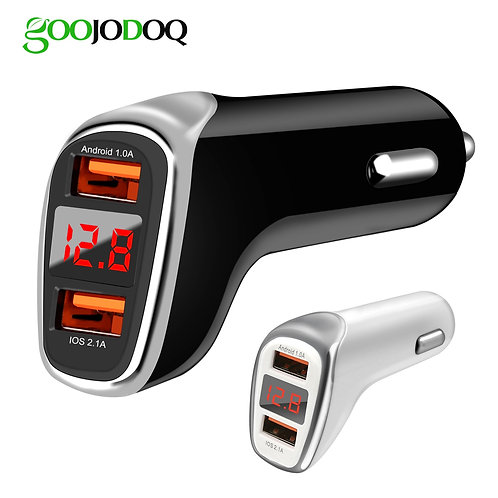 Dual USB Car Charger Quick Charge 2.0 Cell Phone Charger