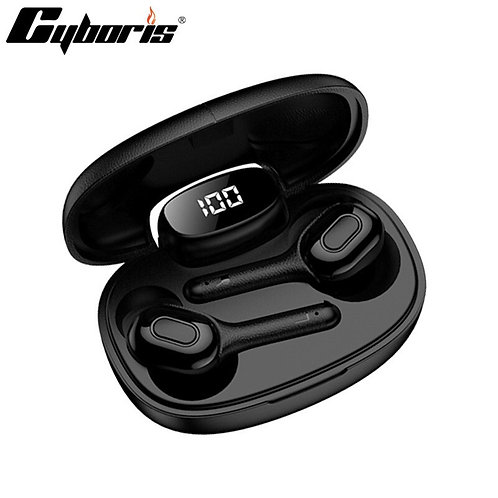 Cyboris Stereo TWS Headsets 20 Hours Play Time Bluetooth 5.0 Sport Portable