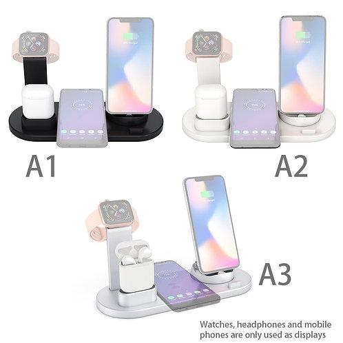 4 in 1 Wireless Charging Dock Station for Wireless Phones Watchs Earphones