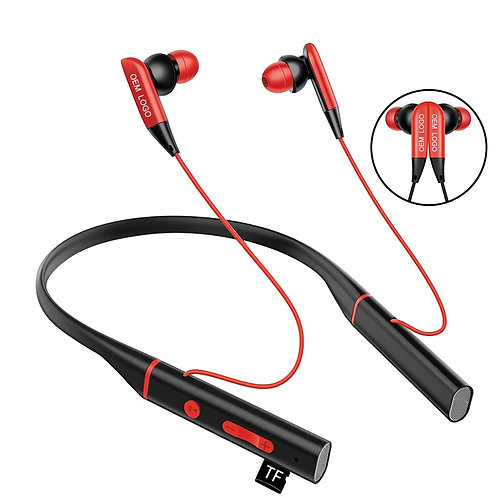 Magnetic Neck Earphones BluetoothStereo M usic Sports Headphone