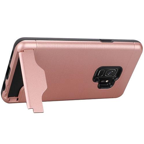 Samsung S9 Bottom Card Holder Brushed Metal Hybrid - Rose Gold