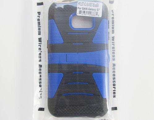 Rugged Grip case w/ kickstand (Blue/Black) Galaxy 7
