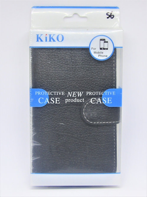 Premium Leather Wallet Case with strap Galaxy 6