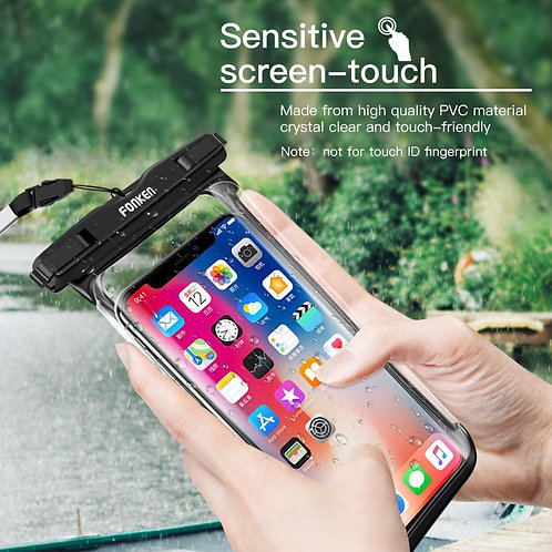 Full View Waterproof Case for Phone  Universal Outdoor Storage Pouch