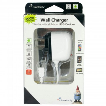 MicroUsb Wall Charger (White)