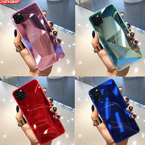 3D Mirror Diamond Soft Case for iPhone