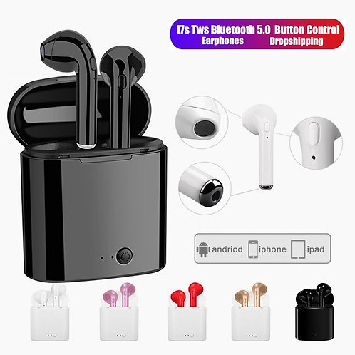 I7s TWS Wireless Earphones Bluetooth Headphones Sport Earbuds Headset With Mic