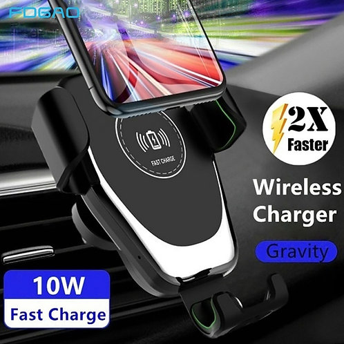 FDGAO 10W Qi Wireless Car Charger Phone Holder