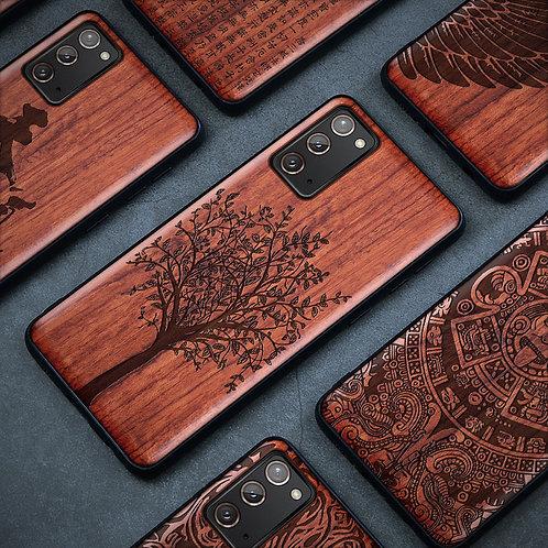 Samsung Galaxy Note 20 Ultra Case Slim Wood Back Cover TPU Bumper Case