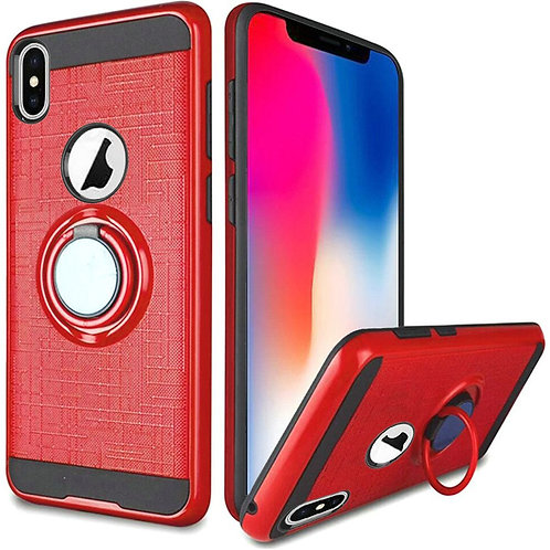 Tech 360 Rotating Ring Hybrid Case Fits Iphone X (Red)