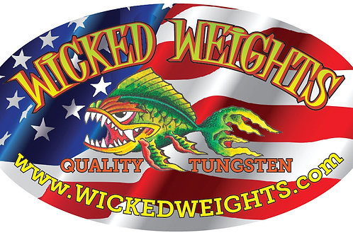 Patriotic Wicked Weights Decal