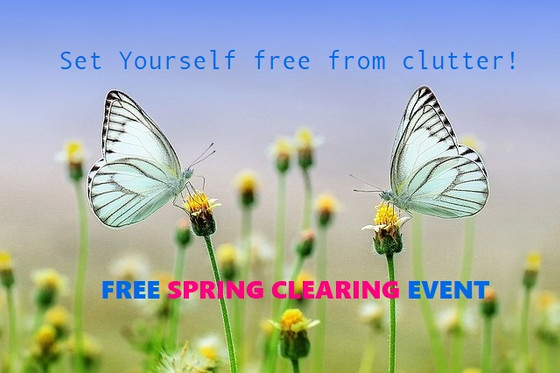 Mark your calendar:  Set Me Free!  will be offering 6 weeks of organizing tips for Spring Clearing!