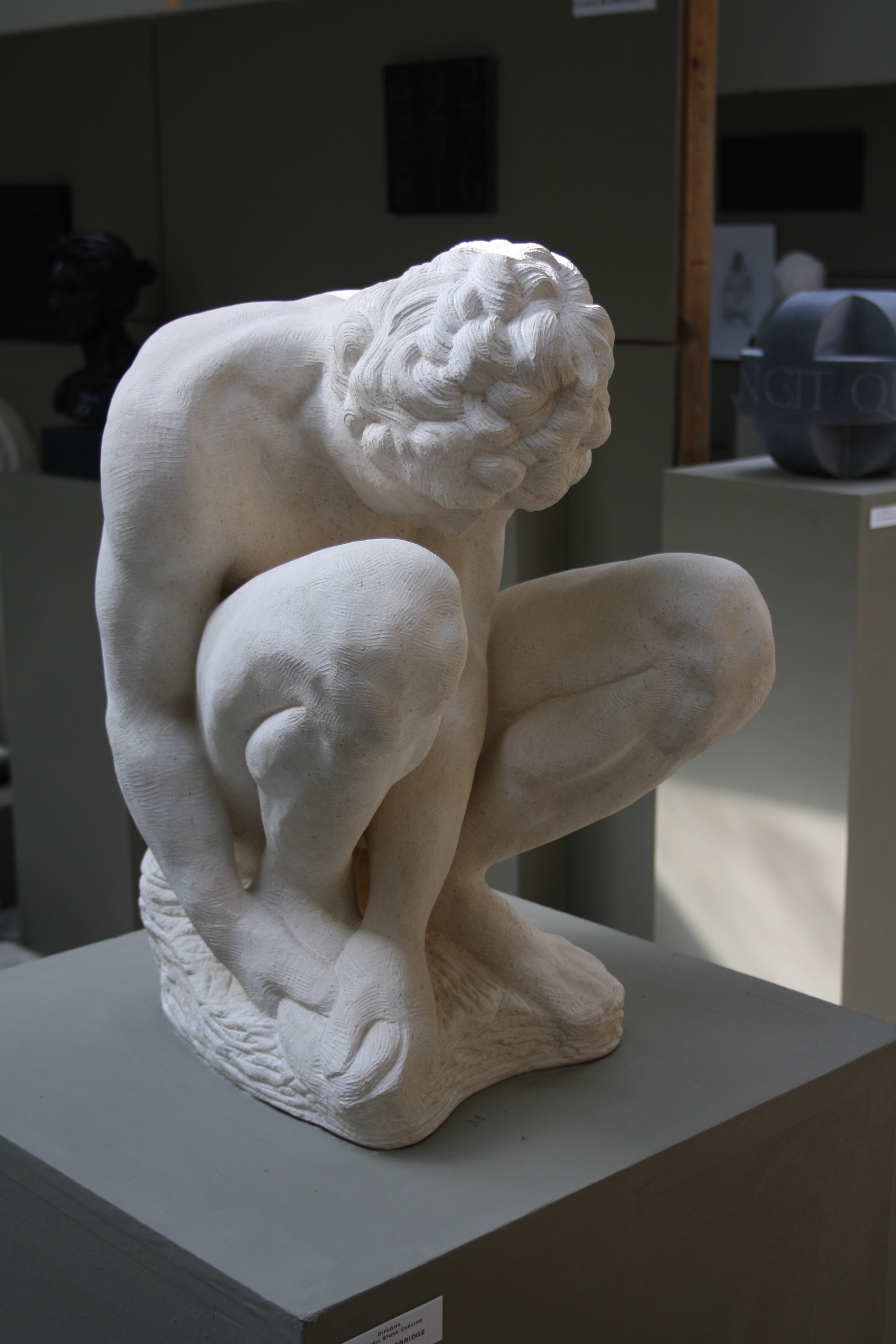 Crouching Boy after Michelangelo