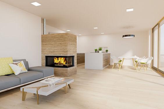 Wohnzimmer im Penthouse