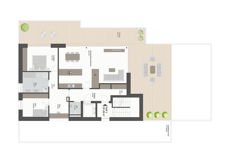 Grundriss Eschenran Penthouse