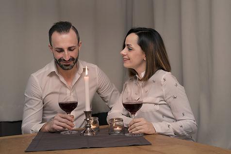 Leo und Vera beim gemeisamen Abendessen