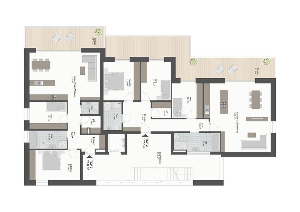 Grundriss Eschenran 2. Obergeschoss