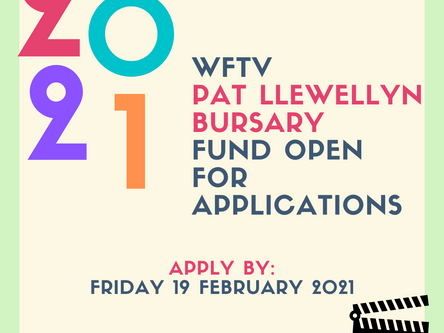 2020 WFTV Pat Llewellyn Bursary Fund Open for Applications