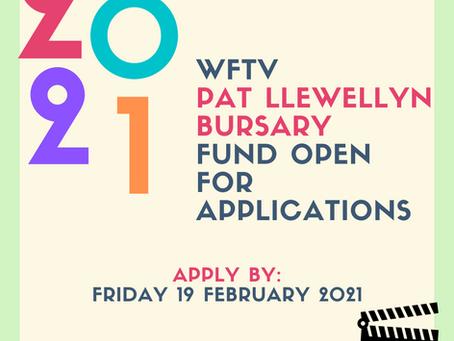 2020 WFTV Pat Llewellyn Bursary Fund Open for Applications