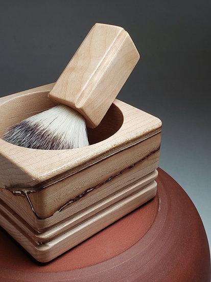 fait main, achat local, fabriqué à Montréal, rasage, bol à raser, bol à mousser, bois canadien