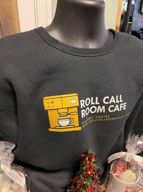 Roll Call Room Cafe black hoodie