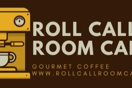 Roll Call Room Cafe die cut sticker
