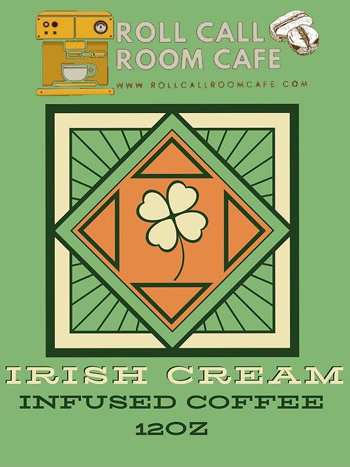 Irish cream infused coffee