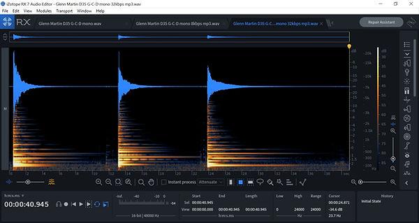 G-C-D Martin D35 32kbps mp3 spectrogram.