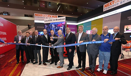 2017-04 ATSC Ribbon-cutting at NAB 2017.