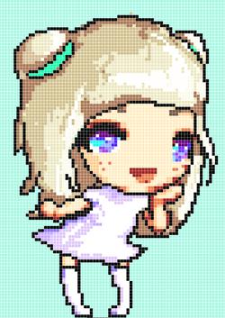 8-bit kawaii Pixel Nyokee