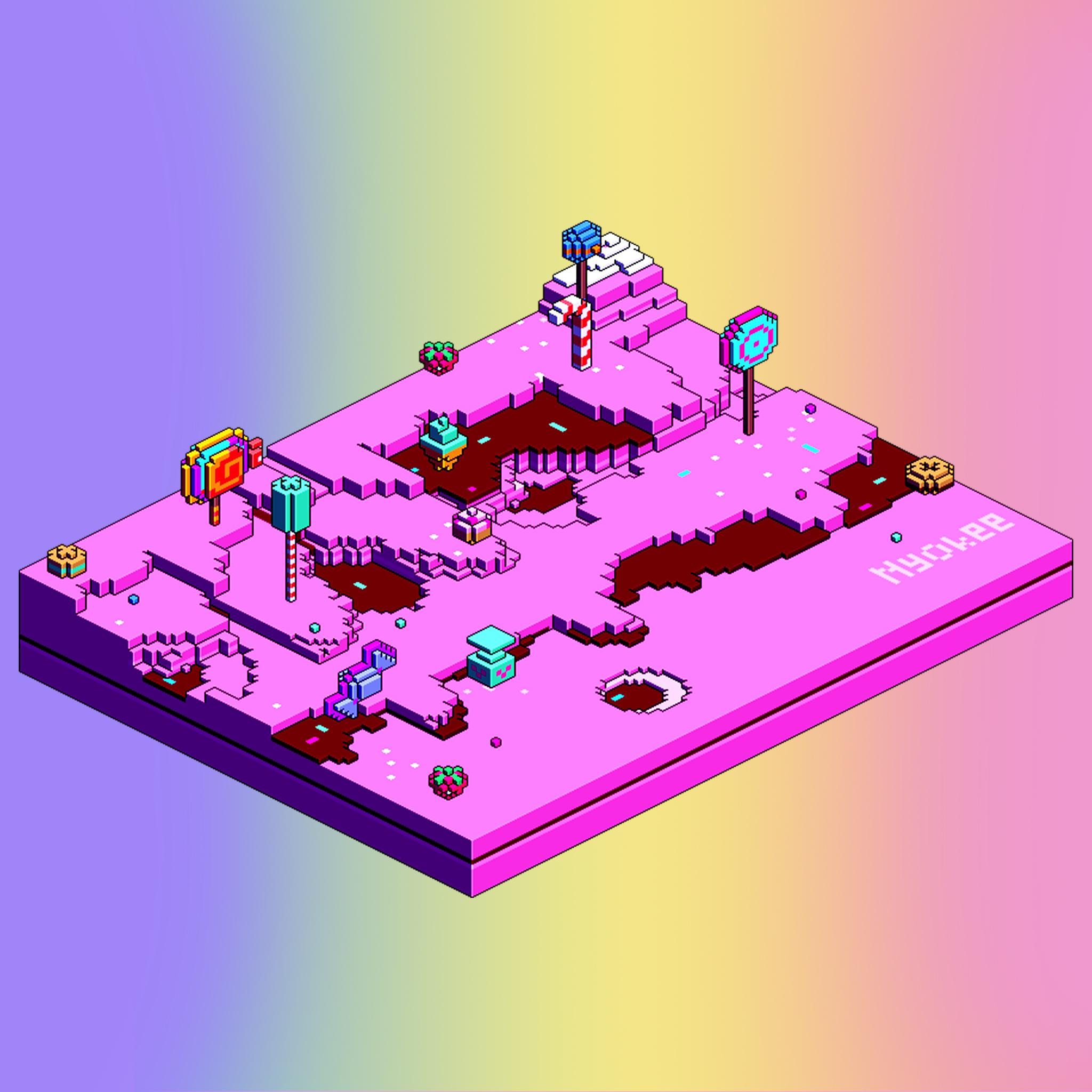 Kawaii candyland pixel art